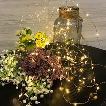 Candle string Home Decor For Christmas/Wedding/Party Lights Garland Outdoor Not Waterproof Led Lamp 9 Colors Led String Battery(China)