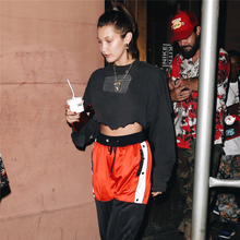 Solid Oversized Women Crop Top Hoodie Brand Hip Hop Irregular Short female And Sweatshirts Fashion Tops