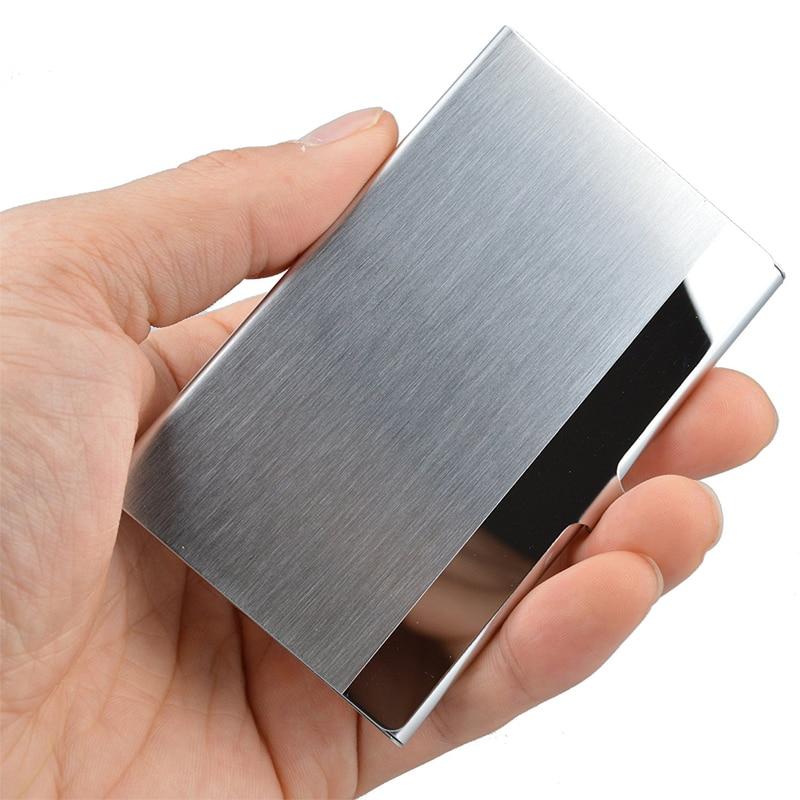 Professional Business Name Card Holder Slim Stainless Steel Card Holder Metal Credit Card Wallet недорго, оригинальная цена
