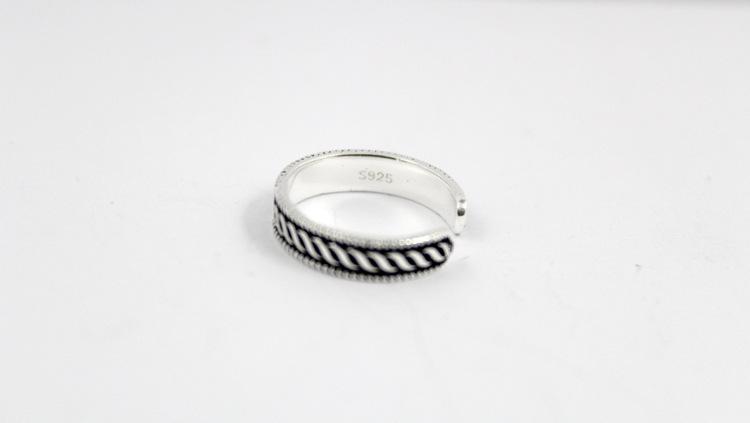 Braid Crafting on 925 Sterling Silver Toe Rings