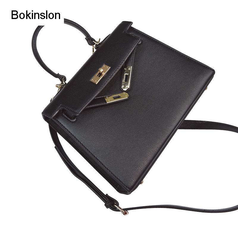 Bokinslon Woman Handbags Bags PU Leather Classic Female Popular Bags Fashion Solid Color Women Crossbody Bags