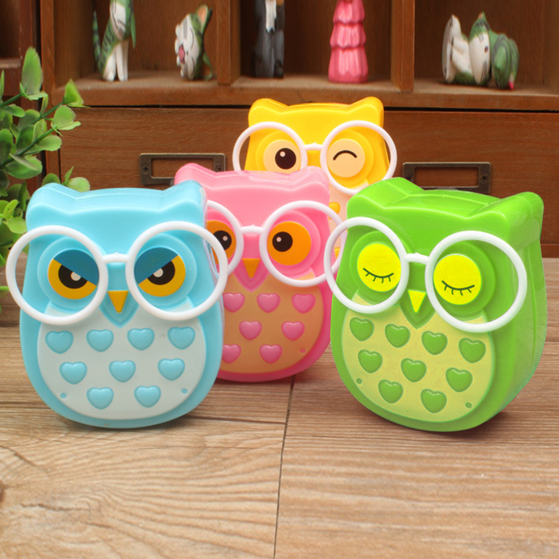 Mini Owl Led Night Light Auto Sensor Light Control Lamp US Plug Child Kids Baby Lighting Room Lamp Animal Socket Veilleuse