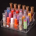 Acrylic Jewelry Box Makeup Organizer Tool Mascara Cosmetic Holder Plastic Home Storage tool Organizer Box 24 Lipstick Stand Case