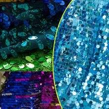 Tissu à paillettes de 1 à 130cm de largeur, étoffe pour robe de mariée, bricolage, couture, pour décoration de fête, événement