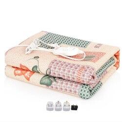 Теплое одеяло с электрическим подогревом, 220 вельветовое одеяло с двойной мантой, электрическое одеяло с подогревом, ковры, коврик с подогре...