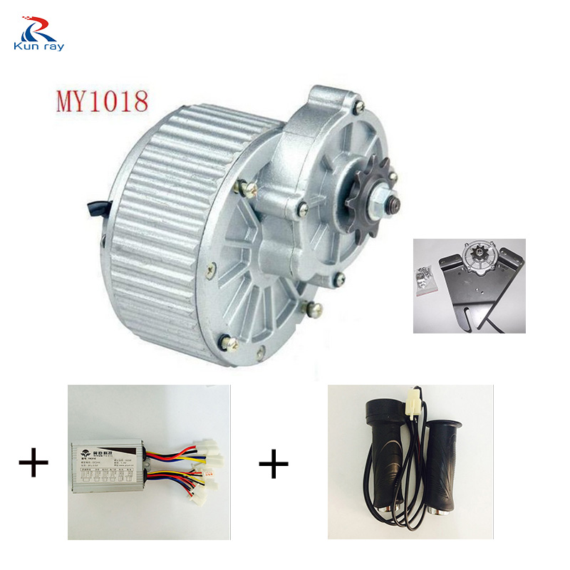 MY1018 250W 24V DC Gear Brushed Motor , Electric Bicycle Kit , Electric Bike Kit,E-Scooter Engine Bike Accessories hot sale my1020 500w 24v electric scooter motors dc gear brushed motor electric bike conversion kit
