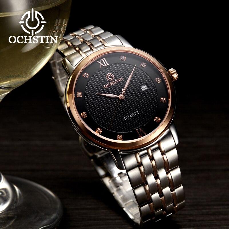 OCHSTIN 2019 hommes diamant montres poignet Top marque d'affaires de luxe mâle horloge Quartz plein acier étanche Montre Homme Relogio