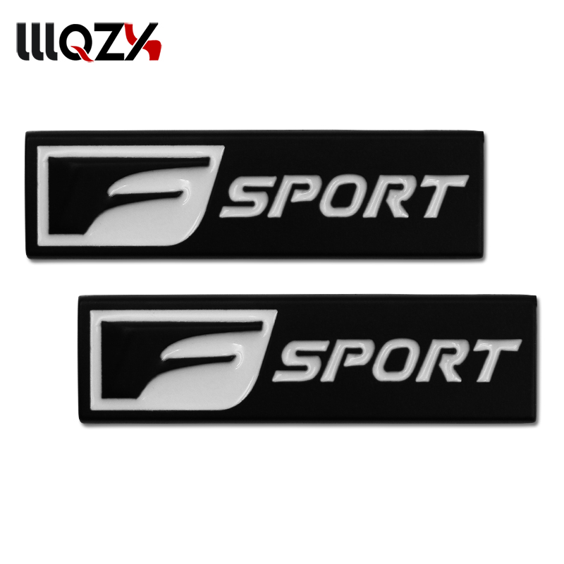 2PCS F Sport 3D Metal Badge Decal Rear Trunk Emblem Sticker for IS ISF GS RX RX350 ES IS250 ES350 LX570 CT200 Car Styling