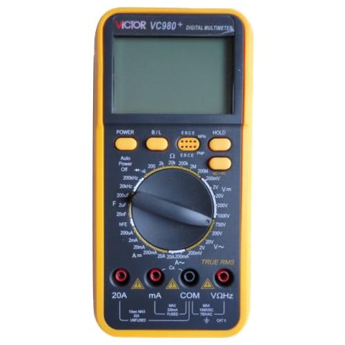 Victor Digital Multimeter 4 1/2 T-RMS Res Cap Freq Diode Continuity VC980+ victor vc980  t rms digital multimeter