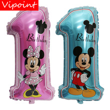 VIPOINT PARTY 30inch pink blue mouse number 1 foil balloons wedding event christmas halloween festival birthday party HY-47