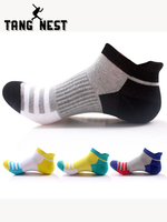 TANGNEXT 2019 Spring Summer New Men's Socks Cotton Striped Boat Socks Tide Men's Casual Breathable Socks 20pieces/lot NWM415