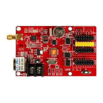 Hot Sales HD-W6B USB+WIFI Single & Dual Color P10 LED video display control card Hot sales TF-A6UW 1