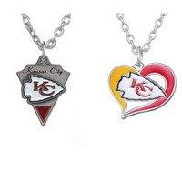 Skyrim New Kansas City Chiefs Enamel Workmanship Pendant Necklace Jewelry