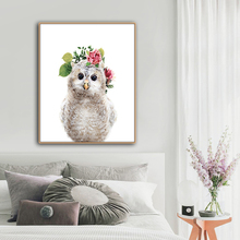 Owl Baby Animals Print On Home Decor Wall Art Oil Painting Pictures Postesrs for Living Room Bedroom Decoration