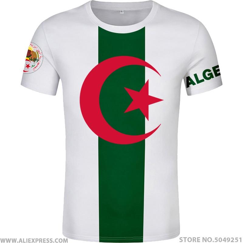 Algeria T Shirt Free Custom Made Name Number Dza T Shirt Islam Diy Arabic Algerie Arab Print Text Word Black Flag Photo Clothing Aliexpress