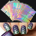 6/12/24pcs Nail Art Stencils Stamping Stickers Multiple Use Vinyls Nail Tips Manicure Reusable Stickers Guide Set Kit