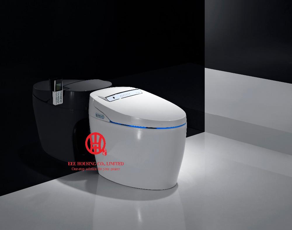 North America Market Smart Commode Intelligent Toilet New Design Tankless Electric Bidet Intelligent Toilet