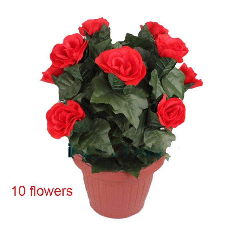 1 pièces fleur floraison Rose Bush télécommande 10 fleurs apparaissant rose tour de magie illusion mariage saint valentin cadeau