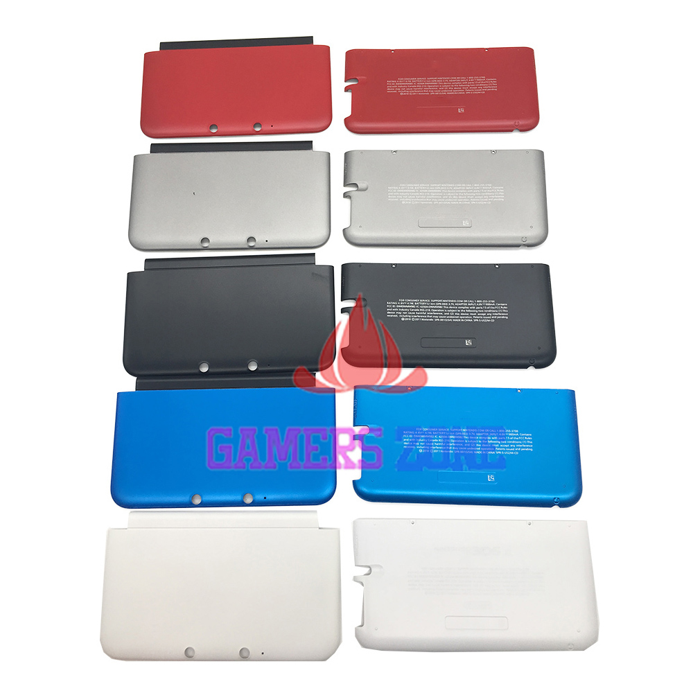 5PCS Top Bottom A & E Faceplate Cover For 3DS XL LL Housing Shell Front Back Case-in Cases from Consumer Electronics    2