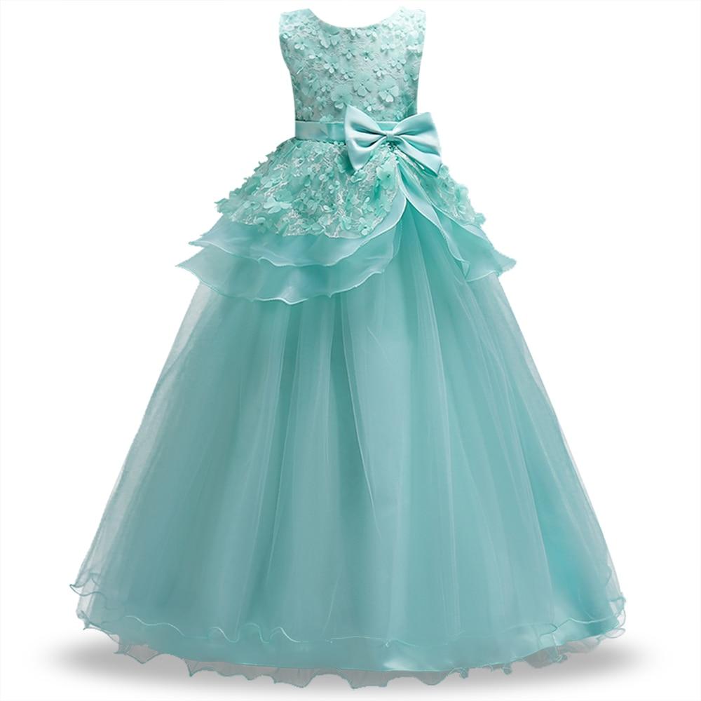 Teenage Birthday Party dress Kids Flower Girl Dress elegant Princess ...
