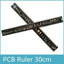 Envío gratis 10 Uds multifuncional regla del PCB EDA herramienta de medición 30CM 12 pulgadas
