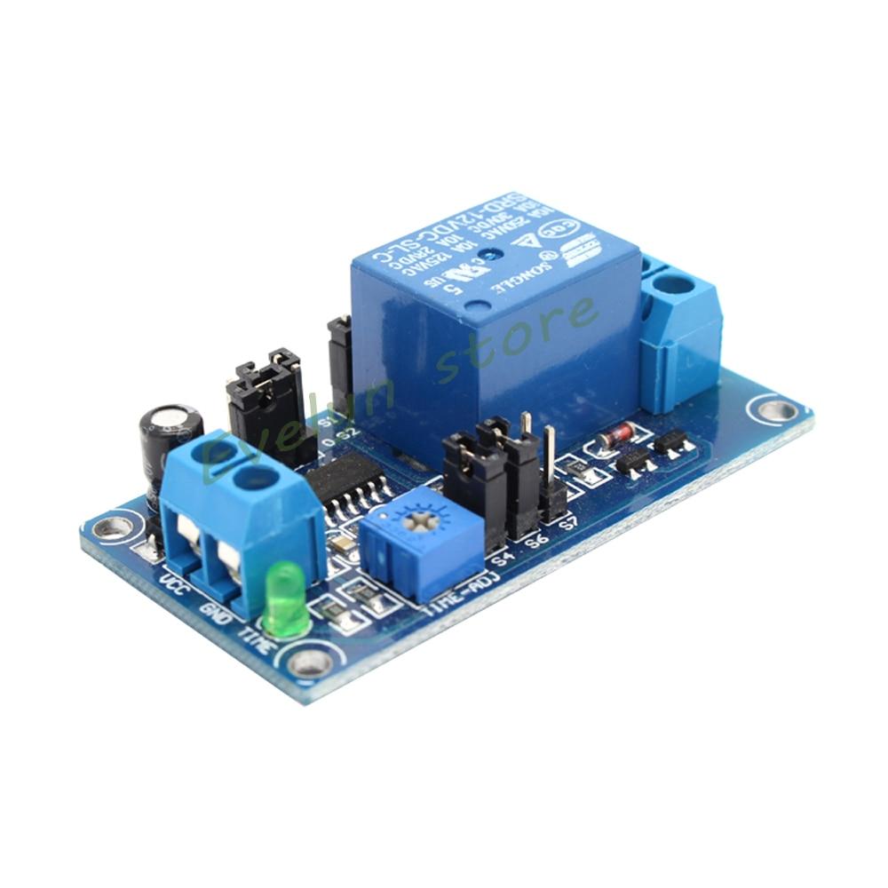 Dc 5v 9v 12v Delay Relay Turn On    Turn Off Switch Module