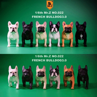 2 pcs/set 1/6 FD002 French Bulldog 3.0 Canis Familiaris Black Pet Dog Model F Collection 6 colors for 1/6 action figure