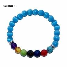 Wholesale 10 Colors Bracelets Natural Stone Beads 7 Chakra Healing Balance 8 MM Beads Bracelet For Men Women Reiki Prayer Stones