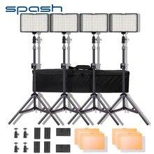 Spash TL 160S LED Video ışık kiti fotoğraf aydınlatma standı ile NP F550 pil kısılabilir 3200K/5600K 160 LED stüdyo lambası