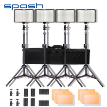 Spash TL 160S ledビデオライトキット写真照明スタンドNP F550バッテリー調光3200 18k/5600 18k 160 ledスタジオランプ