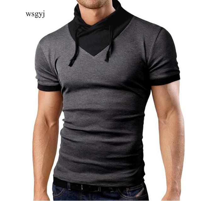 Verano Hombre camisetas 2017 Nueva Moda Tops Camisetas cuello Montón de manga corta t shirt mens clothing casual camisetas de hombre camisetas