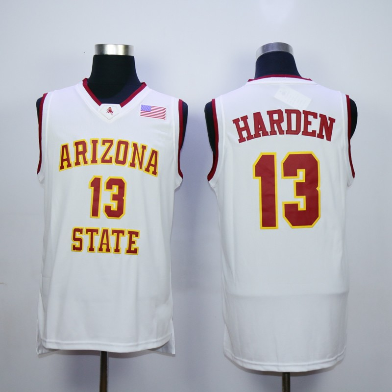 Arizona State college  13 James Harden Throwback Basketball Jersey S 3XL  Stitched-in Basketball Jerseys from Sports   Entertainment on  Aliexpress.com ... 1b3b7fd12f33