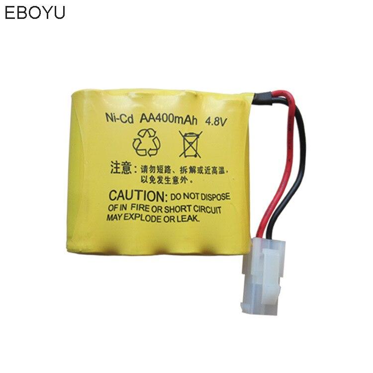 EBOYU 4.8 V 400 mAh Ricaricabile Ni-cd AA Battery Pack 5559 2 P Spina per Huanqi 508 550 RC Serbatoio 605 611 RC Auto E Altri RC giocattoli