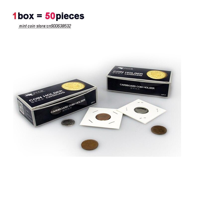 LOTTO X 50 scatole/Totale 2500 pz, V1.0 PCCB Cartone COIN HOLDER, raccolta Della Carta di Carta, 12 diverse dimensioni per la scelta-801800