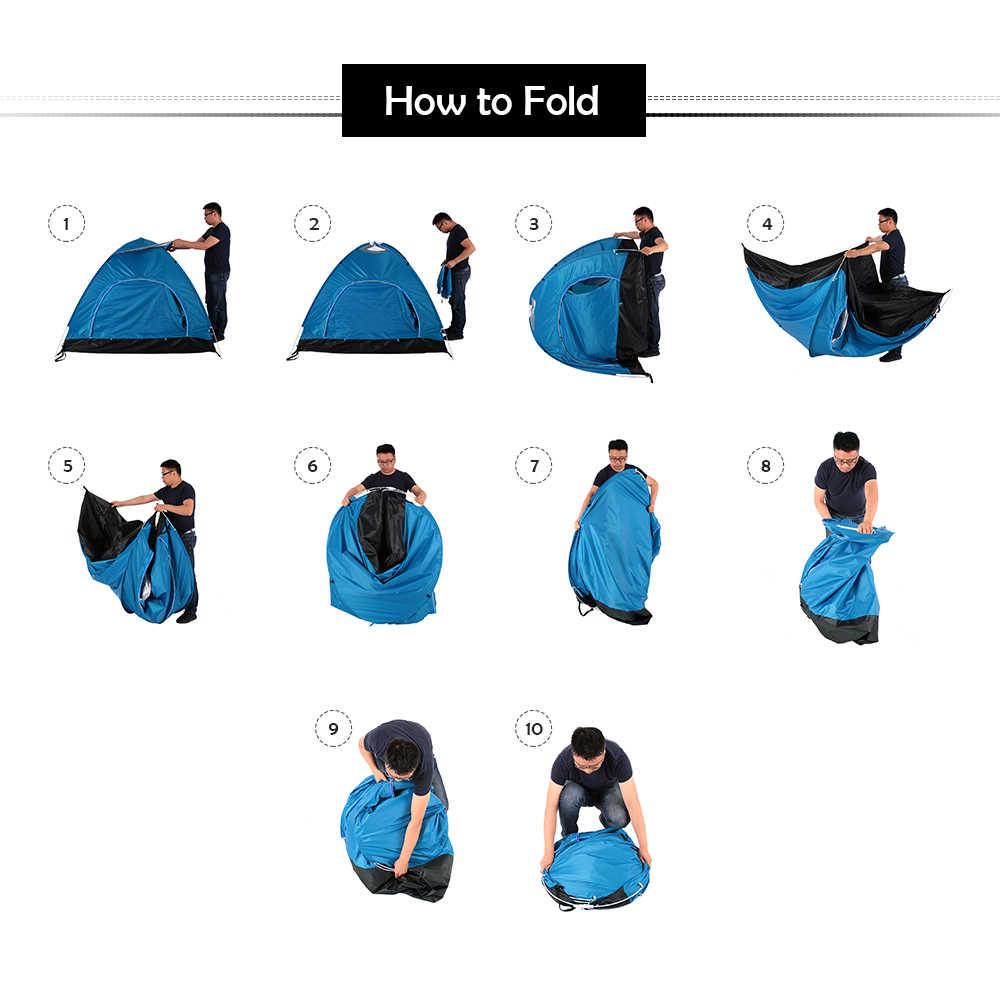 TOMSHOO extérieur automatique Pop Up tente plage soleil abri tente Camping tente randonnée sac à dos tente pour 2-3 personne avec sac
