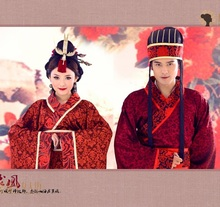 Chinese traditional couple wedding Hanfu  costume Ancient China Couple Wear clothing for photograph classic cosplay
