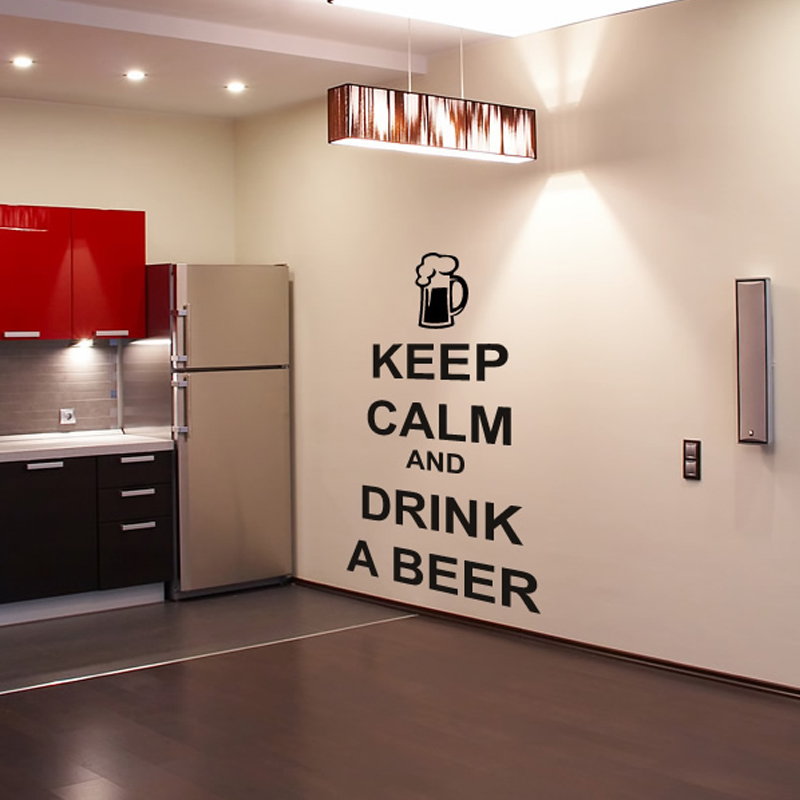 Kitchen Wall Groupings: Kitchen Character Wall Sticker Keep Calm And Drink A Beer