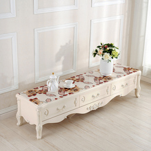 TV counter Dust cloth PVC soft glass plastic table Waterproof oilproof decoration mat Bedside cover customize