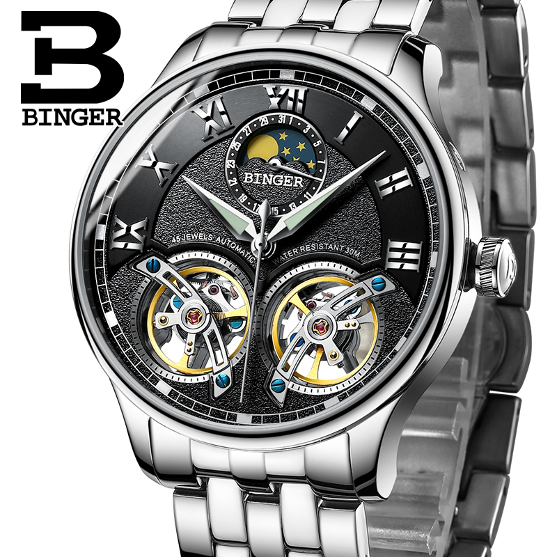 Switzerland Mechanical Men Watches Binger Role Luxury Brand Skeleton Wrist Sapphire Waterproof Watch Men Clock Male Men Watch switzerland mechanical men watches binger luxury brand skeleton wrist waterproof watch men sapphire male reloj hombre b1175g 7