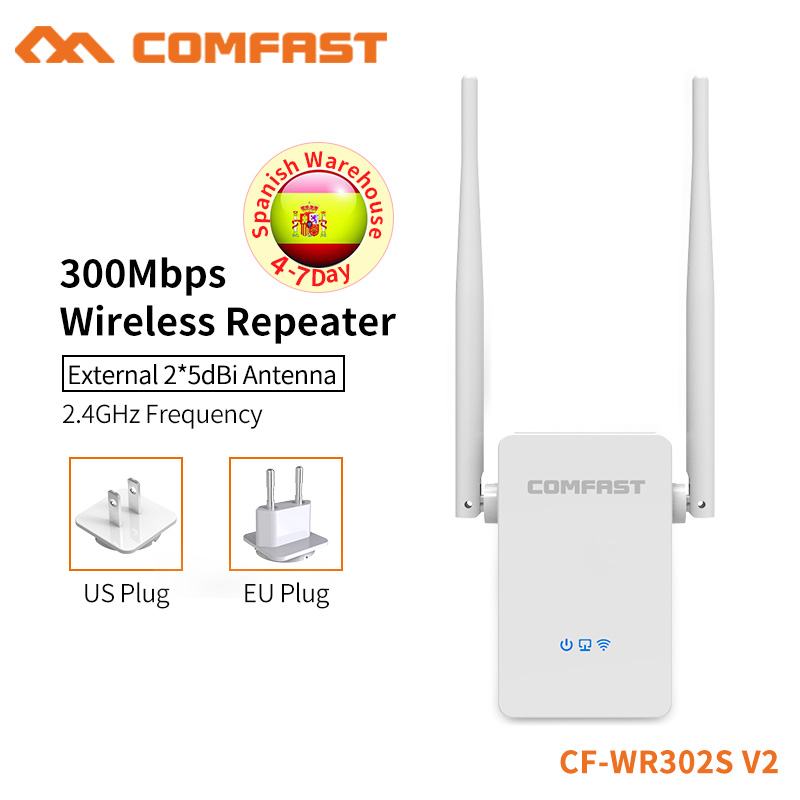COMFAST Wireless WIFI Repeater 300Mbps WiFi Signal Amplifier Extender Home Use Router Strength Wifi Booster CF-WR302S-V2 все цены