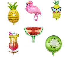 Hawaii theme Party Balloons Flamingo Pineapple Foil Balloon Birthday Decoration Kids Adult Party Beach Party Helium Air Globos(China)