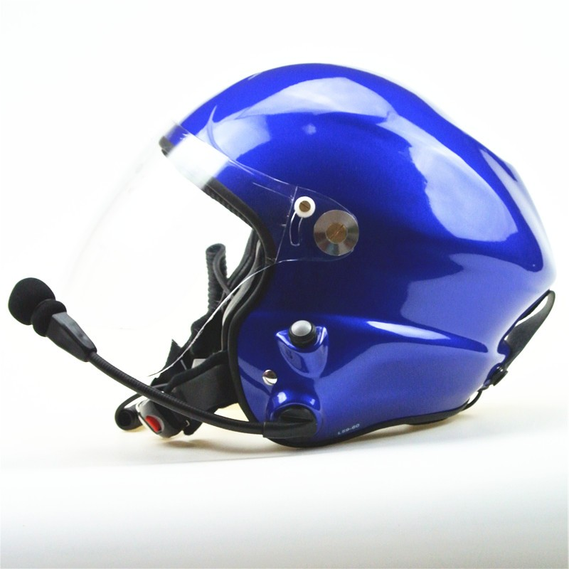 EN 966 certificated Noise cancelling paramotor helmet GD G Matt black colour free shipping