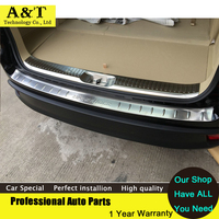 A T Car Styling Stainless Steel Outside Inside Interior Rear Bumper Sill Protector For 2015 Toyota