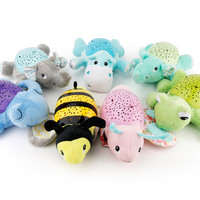 MUQGEW Light MUQGEW 30cm Music Projection Animal Shapes Music Sound Baby Sleeping Toys Calm DollToys For