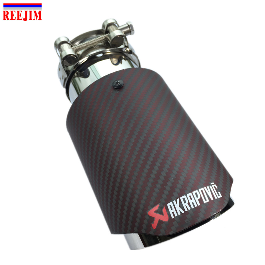 2018 NEW RED BLACK Akrapovic exhaust car carbon fiber Exhaust Tip car-styling exhaust pipe Akrapovic muffler tip carbon fiber