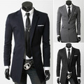 Long In The Men's Leisure Suit Jacket Mens Blazer Slim Fit Suit Jacket, Black Navy Blue Long Velvet