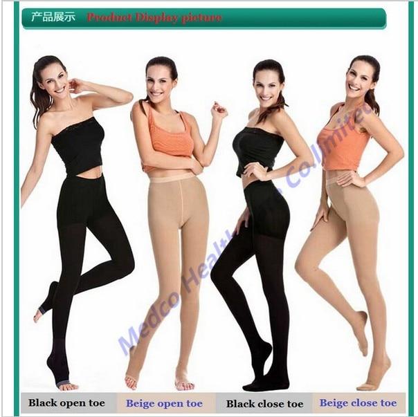 DHL Free shipping 3pcs/lot Top quality 34-46mmHg medical compression pantyhose Varicose socks elastic stockings open/close toe цена