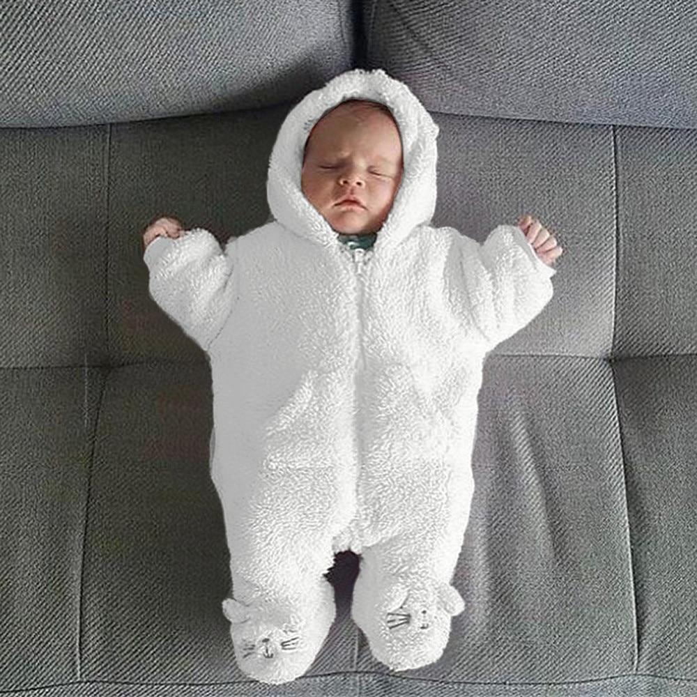 Cartoon Baby Newborn Hoodie Romper Jumpsuit Playsuit Boy Girl Sleepwear Clothes