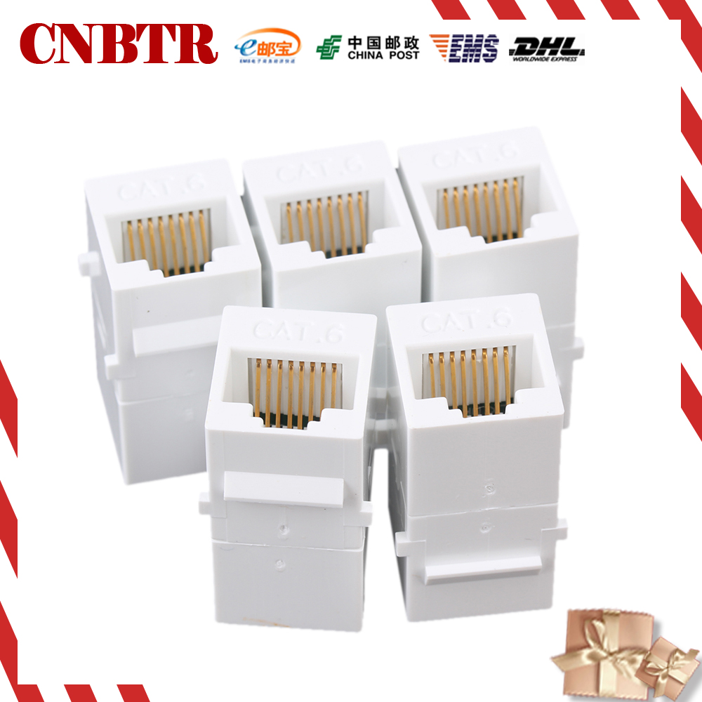 CNBTR 5pcs Female to Female RJ45 UTP Keystone Wall Jack Coupler Adapter Cat6 White 5pcs lot pc928 sop 14 optical coupler oc optocoupler