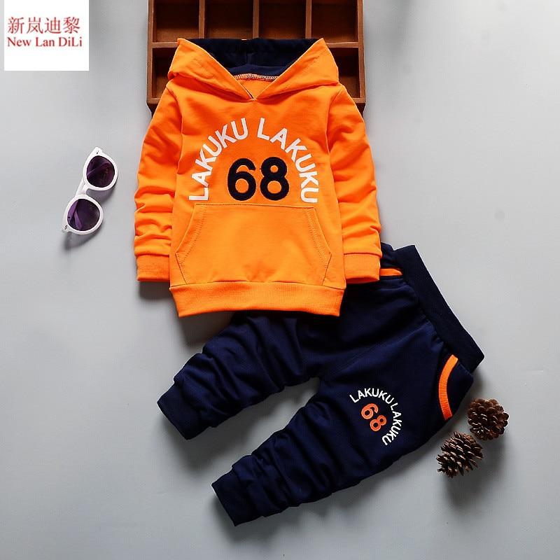 No68 Children Clothing Sets Cotton Infant Boys Clothes Sweaters+Pants 2pcs Sports Suits Fashion Children Tracksuits For Boys